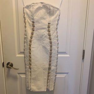 AKIRA Waka Flame Bandage Midi Dress White. NWT